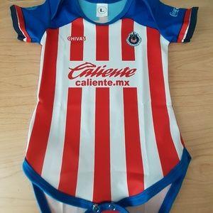 Club chivas de Guadalajara newborn baby onesie